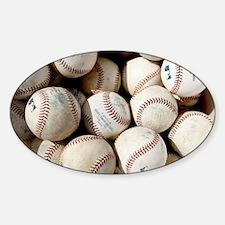 Baseballs Sticker (Oval)