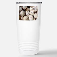Baseballs Stainless Steel Travel Mug