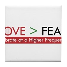 LOVE FEAR 2 Tile Coaster