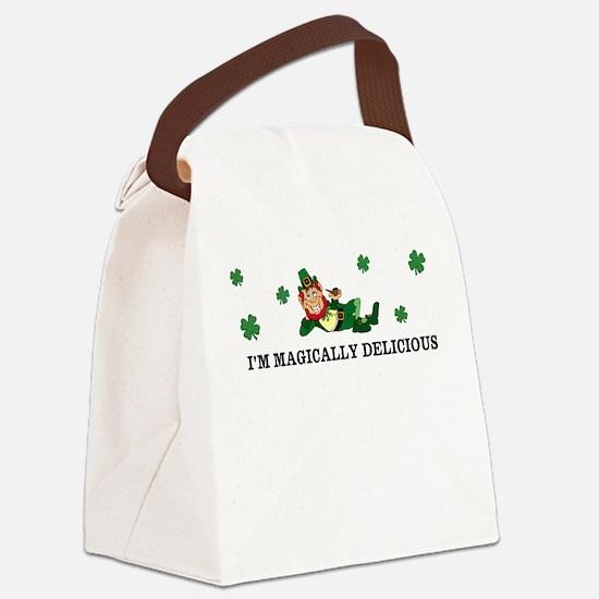 Leprechaun Im magically delicious Canvas Lunch Bag
