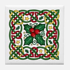 Celtic Garland & Holly Decorative Tile