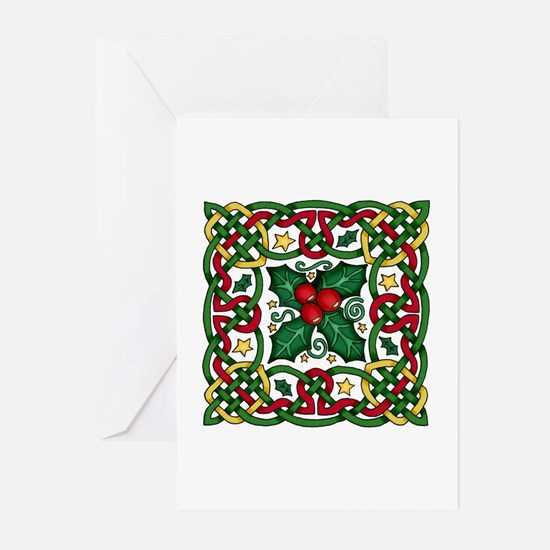 Celtic Garland Holly Greeting Cards (Pk of 10)