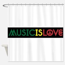 MUSIC IS LOVE 1 Shower Curtain