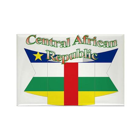 Central Africa flag ribbon Rectangle Magnet