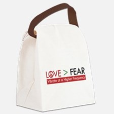 LOVE FEAR Canvas Lunch Bag