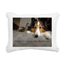 Home is where the Sheltie is Rectangular Canvas Pi