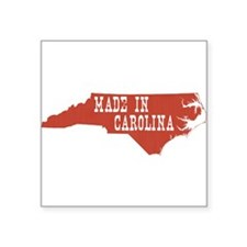 "North Carolina Square Sticker 3"" x 3"""