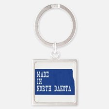 North Dakota Square Keychain