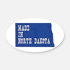 North Dakota Oval Car Magnet