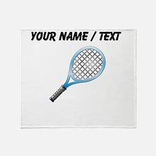 Custom Tennis Racket Throw Blanket