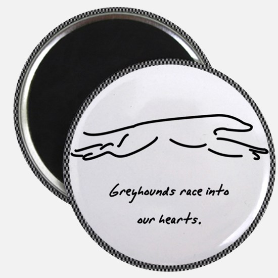 Race Into Greyhound Magnet