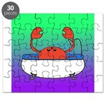 Crab in Tub (Green/Purple) Puzzle