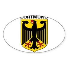 Dortmund, Germany Oval Decal