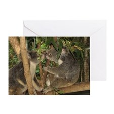 Kissing Koalas Greeting Card