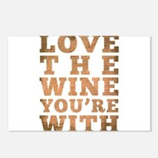 Love The Wine You're With Postcards (Package of 8)