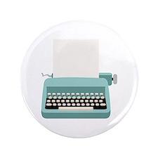 """Blue Typewriter 3.5"""" Button"""