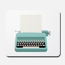 Blue Typewriter Mousepad