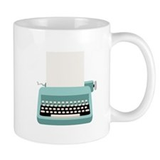 Blue Typewriter Mugs