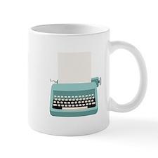 Blue Typewriter Mugs