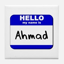 hello my name is ahmad  Tile Coaster