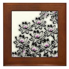 Lotus Flowers Framed Tile