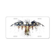 American Eagle Flag Aluminum License Plate
