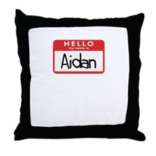 Hello Aidan Throw Pillow