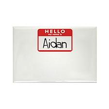 Hello Aidan Rectangle Magnet