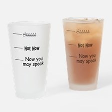 funny, not now Drinking Glass