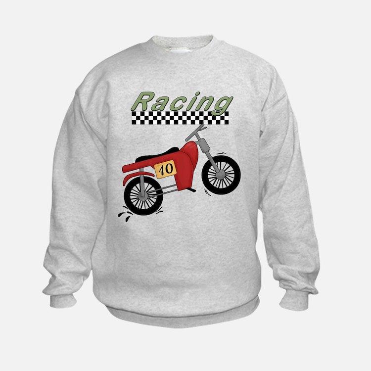 Red Motorcycle Racing Sweatshirt