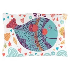Whimsical Whale Pillow Case
