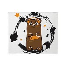 Gamer Bear Throw Blanket