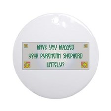 Hugged Pyrenean Ornament (Round)