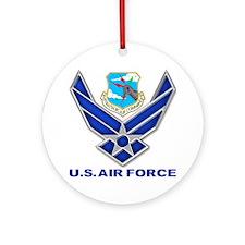 USAF SAC Ornament (Round)