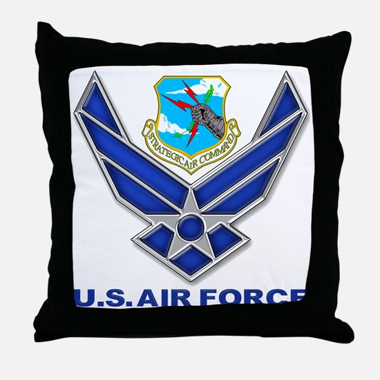 USAF SAC Throw Pillow