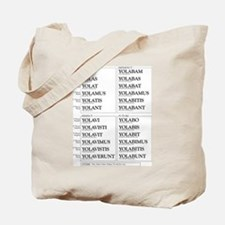 YOLO Conjugated in Latin Tote Bag