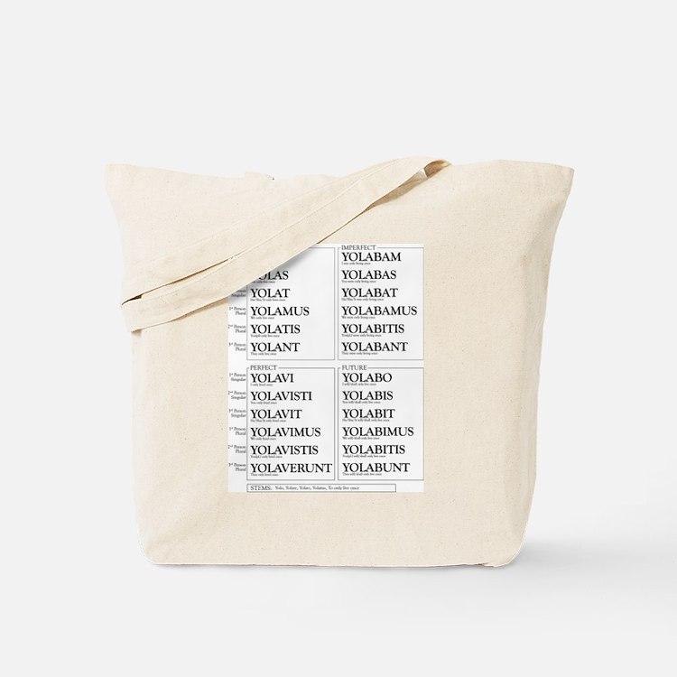 YOLO Conjugated in Latin Tote Bag