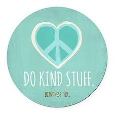 Kindness U Round Car Magnet