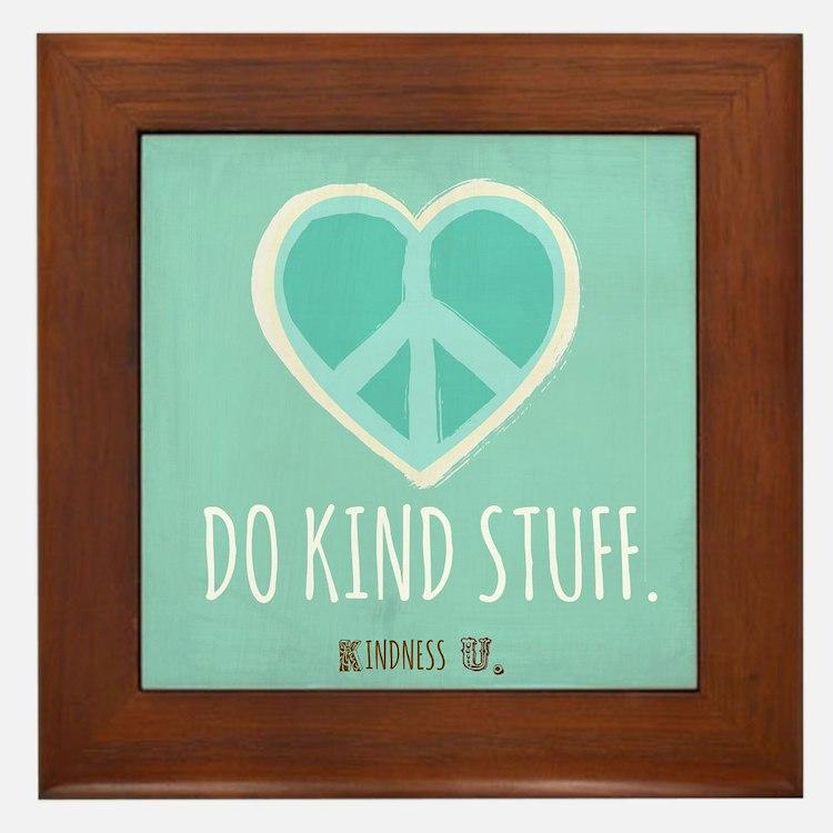 Kindness U Framed Tile