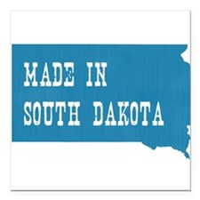 "South Dakota Square Car Magnet 3"" x 3"""