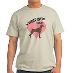 Weims Rule Pink Heart Light T-Shirt