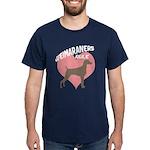 Weims Rule Pink Heart Dark T-Shirt