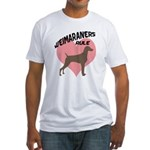 Weims Rule Pink Heart Fitted T-Shirt