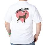 Weims Rule Pink Heart Golf Shirt