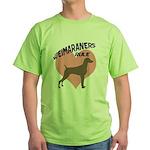 Weims Rule Pink Heart Green T-Shirt