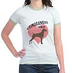 Weims Rule Pink Heart Jr. Ringer T-Shirt