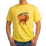 Weims Rule Pink Heart Yellow T-Shirt