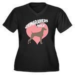 Weims Rule Pink Heart Women's Plus Size V-Neck Dar