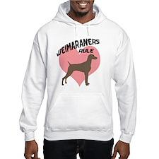 Weims Rule Pink Heart Hoodie