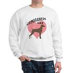 Weims Rule Pink Heart Sweatshirt